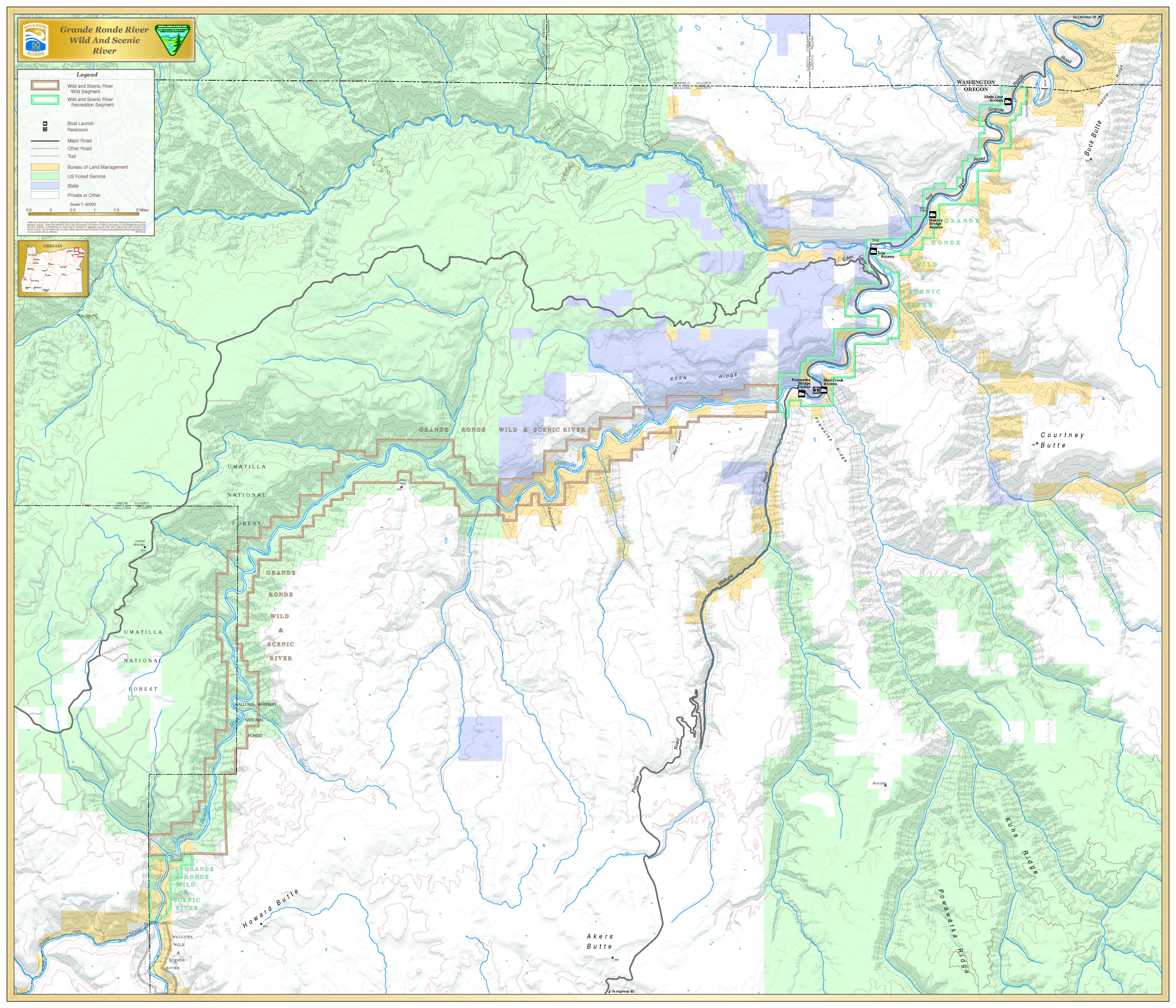 Grand Ronde Oregon Map.Grande Ronde River Oregon Wild Scenic