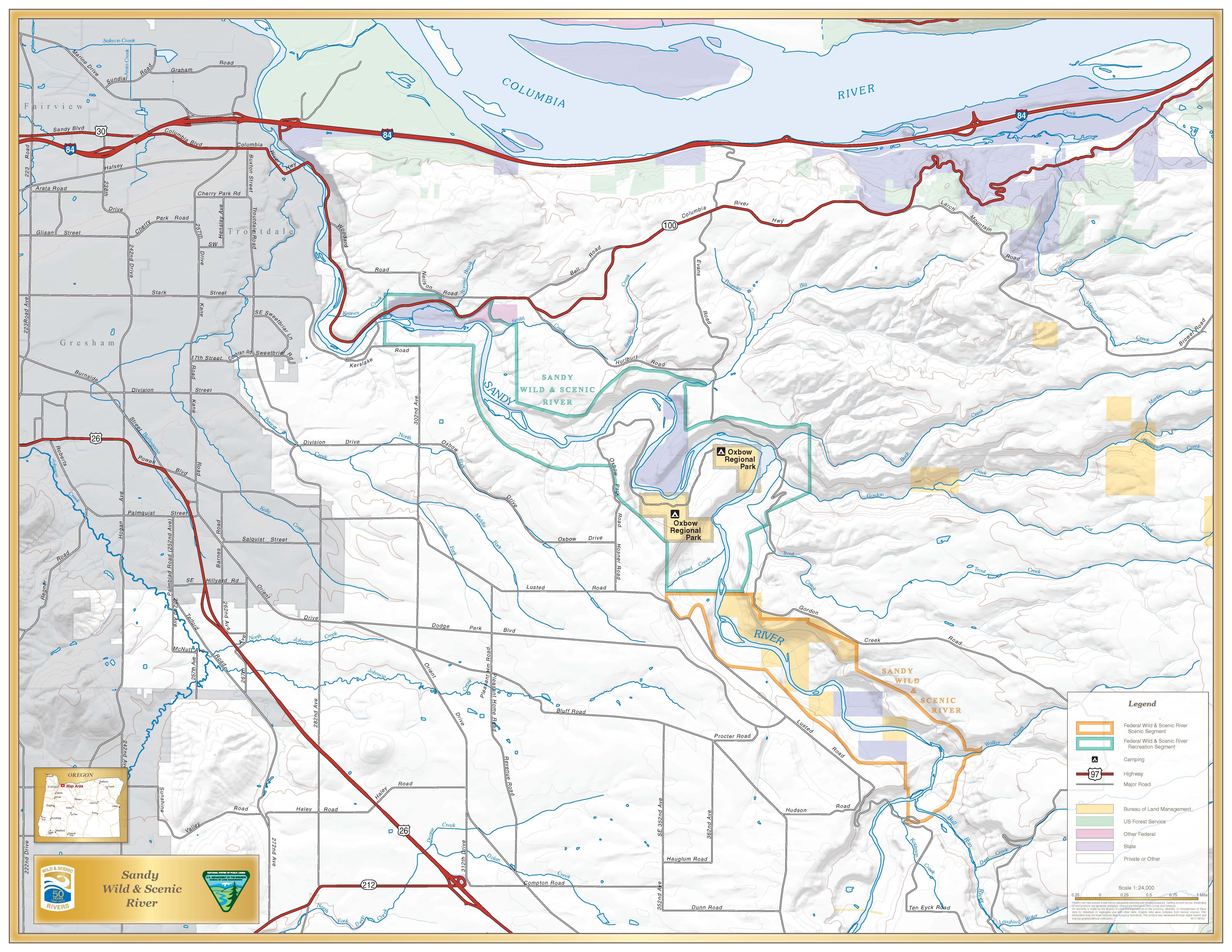 Sandy River Oregon Wild Scenic